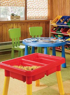 sensory table - good article about playrooms