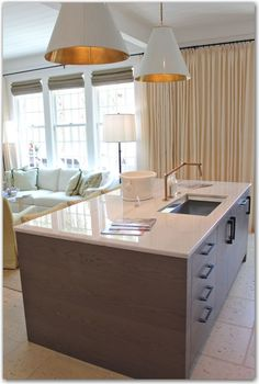 kitchen island | faucet | lighting