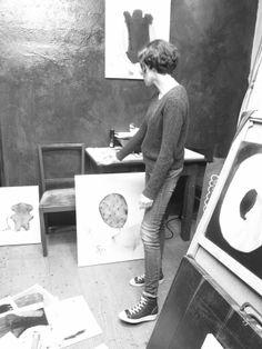 Artist's studio justynaadamczyk.com