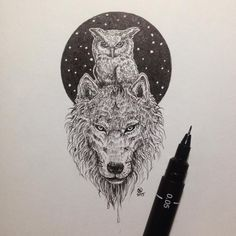 Amazing Owl And Wolf Pic By Kerby Rosanes