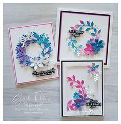 Blue Rose Paper Treasures: Watercolour Wreath Builder Cards