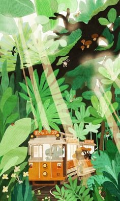Excellent simple ideas for your inspiration Forest Illustration, Landscape Illustration, Character Illustration, Digital Illustration, Graphic Illustration, Film D'animation, Environmental Art, Illustrations And Posters, Storyboard
