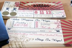 Vintage Circus/Carnival wedding invitation, scratch off & lottery ticket tear-off rsvp. Super cute theme-y