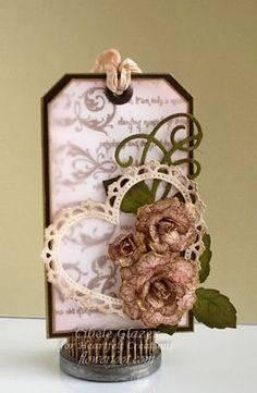 Heartfelt Creations   Vintage Floret Love Tag