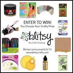 Blitsy have another great giveaway going. And even if you don't win, you can still get some amazing craft bargains