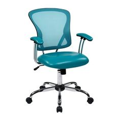 Office Star Products Peyton Desk Chair with Mesh & Adjustable Tilt... ($135) ❤ liked on Polyvore featuring home, furniture, chairs, office chairs, mesh office chair, colored furniture, mobile home furniture, office star chair and padded chairs