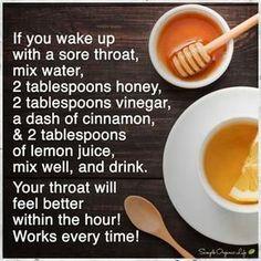 Sore throat remedy                                                                                                                                                                                 More #ColdSoreTips