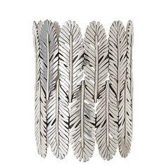 Manchette Silver Palm Cuff | Calypso St. Barth