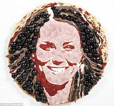 Une #pizza Kate #Middleton aux olives, ça vous dit ? Positive Eating Positive Living: Pizza arty aux portraits des famous !
