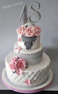 Le torte decorate di CettyG...: 18°Compleanno...Chic