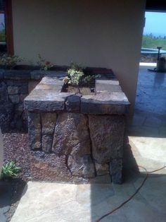 Lava rock walls hawaii google search tiki pinterest for Argo fabiola