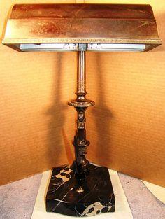 1928 Banker's Lamp Bankers Lamp, Lamps, Desk, Home, Lightbulbs, Desktop, Table Desk, Ad Home, Office Desk
