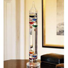 Galileo thermometer.