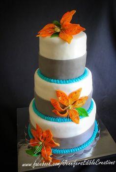 Tiger Lilly Wedding Cake