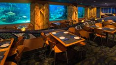Dine under the sea without getting wet at Coral Reef Restaurant in The Seas with Nemo & Friends Pavilion at Epcot. Request your vacation quote today!! www.wishwithcrystal.com #DisneySide #WishWithCrystal