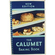 This vintage recipe booklet is the; New Edition - Calumet Baking Book. The 30 page booklet is full of colorful pictures and lots of recipes using Calumet Double Acting Baking Powder. From Quick Breads to Cakes to Cookies there are many old time favorites. It has a 1931 copyright by the G.F. Corporation.