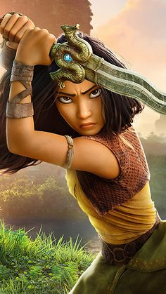 Raya With Sword In Raya and The Last Dragon 4K Ultra HD Mobile Wallpaper. Dragon, Disney Aesthetic, Movie Wallpapers, Disney Pixar, Aesthetic Wallpapers, Sword, Captain Hat, Animation, Cosplay