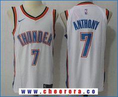 Men s Oklahoma City Thunder Carmelo Anthony New White Nike Swingman  Stitched NBA Jersey 44959d07c