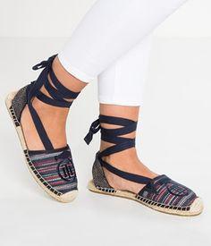 Espadrile dama Tommy Hilfiger cu siret pe picior Tommy Hilfiger, Lace Shoes, Espadrilles, Fashion, Espadrilles Outfit, Moda, Fasion