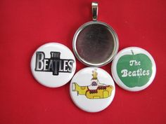 "Beatles changeable Multi-color Pendants Magnetic New  18"" Black  Necklace #Handmade #Pendant"