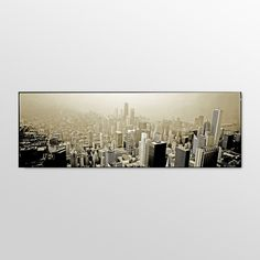 Chicago Skyline by Preston Ready to Hang Art - 16 x 48 - EM033-C1647GG