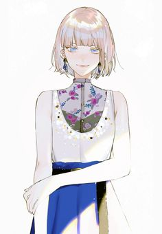 Manga Girl, Manga Anime, Kawaii Anime Girl, Anime Art Girl, Anime Girl Short Hair, Anime Girls, Female Characters, Anime Characters, Anime Lindo