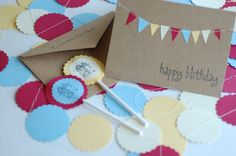 Birthday Party Decoration and Invitation Pack by hoopdaloop, $30.00