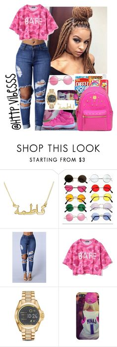 """""""Untitled #1052"""" by jazaiah7 ❤ liked on Polyvore featuring NIKE, Michael Kors and MCM"""