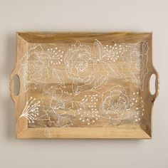Fortress Bouquet Wood Serving Tray