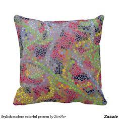 Stylish modern colorful pattern pillows