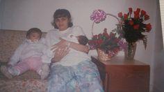 Eu e minhas lindas filhas, nascimento da Nicole