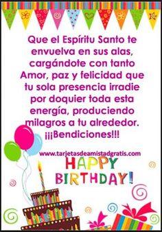 tarjetas-de-feliz-cumpleaños-cristianas-paz Happy Birthday Clip Art, Birthday Qoutes, Happy Birthday Ecard, Birthday Clips, Happy Birthday Girls, Birthday Letters, Birthday Greeting Cards, Birthday Greetings, Love Gifts