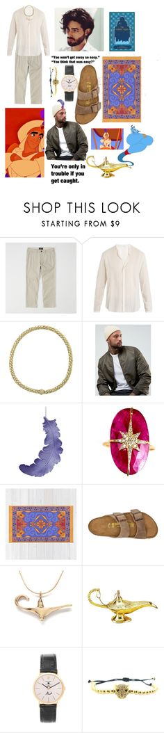 """""""Modern! Prince Ali Ababwa"""" by iris-thewitch ❤ liked on Polyvore featuring Disney, Abercrombie & Fitch, Yves Saint Laurent, Chimento, ASOS, Nush, Birkenstock, Rolex, modern and men's fashion"""