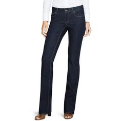 White House Black Market Womens Saint Honore London Skinny Flare Jeans ($84) ❤ liked on Polyvore