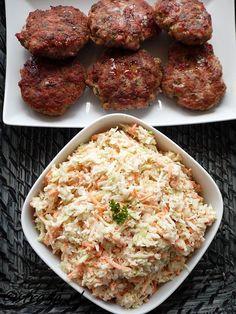 Przepisy na surówki do obiadu - Damsko-męskie spojrzenie na kuchnię Polish Recipes, Coleslaw, Low Carb Recipes, Salads, Food And Drink, Ethnic Recipes, Diy, Low Carb, Bricolage