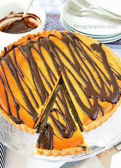 Vegan Dark Chocolate Orange Tart