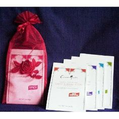 CuisineMentor Gourmet Spice Blend Sampler. Gluten Free. In Lovely Organza Bag. Great Gift! Outstanding Ethnic Recipes Incl...