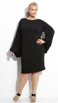 Rachel Pally White Label LARK Dress Black Poet Sleeves