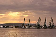 Port Varna (Martin Kostadinov) Tags: sunset seascape port cloudscape varna