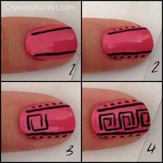 nail art, nail art tutorial, tribal nail art