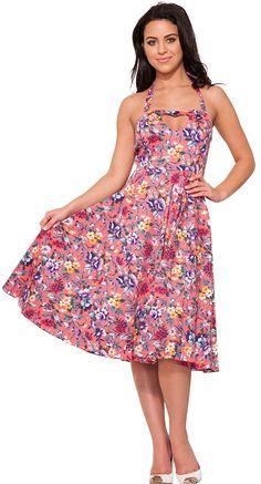 60e8d0de5b82 Garden Beauty Halter Dress with Heart