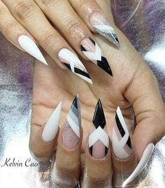 Stiletto nails.
