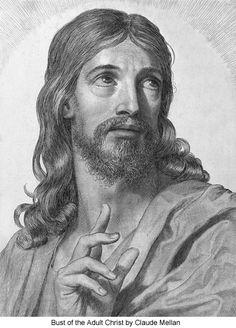 Rostro de Cristo, de Claude Mellan