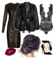 Black is beautiful by inok-lay on Polyvore featuring polyvore fashion style Givenchy Balmain Agent Provocateur Christian Louboutin Lime Crime clothing