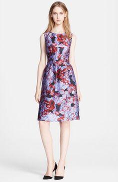 Lela Rose Print Fil Coupe Sheath Dress available at #Nordstrom
