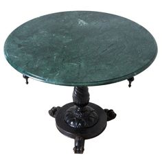 Russian 19th Century Marble Top Pedestal Table