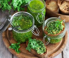 Cilantro and Pumpkin Seed Pesto Recipe – Food and Recipes – Mother Earth Living - Modern Whole Food Diet, Whole Food Recipes, Moringa Recipes, Cilantro Pesto, Vegetarian Recipes, Healthy Recipes, Superfood Recipes, Thm Recipes, Recipies