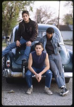 Dallas Winston, Johnny Cade, and Ponyboy Curtis