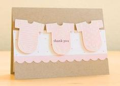 Onesie Baby Shower Thank You Card by Silke Shimazu - Cards and Paper Crafts at Splitcoaststampers by marcy Baby Shower Thank You Cards, Baby Cards, Cool Cards, Baby Shower Invitations, Shower Favors, Making Ideas, Cardmaking, Paper Crafts, Card Ideas