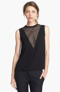 A.L.C. 'Harlow' Checkerboard Lace Inset Top